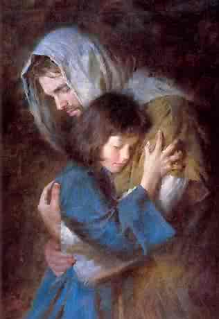 #BOMTC Day 15, April 21~2 Nephi 15-19 or Pages 85-90 Jesus Hugging a Girl