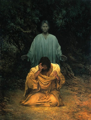 The Lamb of God suffers in Gethsemane.