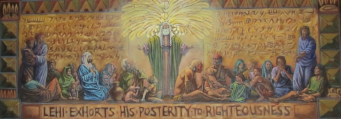 Lehi Exhorts His Posterity to Righteousness by Philip Leaning