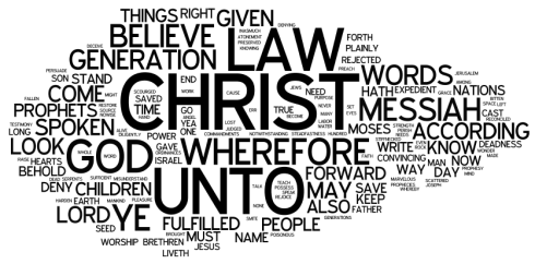 Word Cloud of 2 Nephi 25:16-30